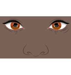 Portrait of a child with negroid appearance vector