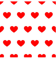 seamless pattern from red heart on white vector image