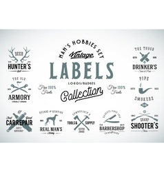 Set of Vintage Icons Labels or Logo Templates vector image