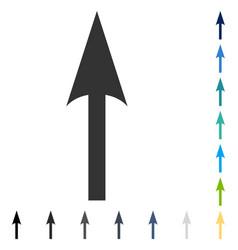 Sharp arrow up icon vector