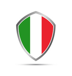 Simple italian pointers in the shape of a shield vector