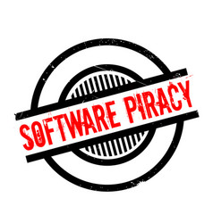 Software piracy rubber stamp vector