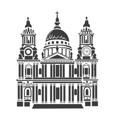 St paul cathedral in london vector