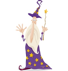 Wizard fantasy cartoon vector