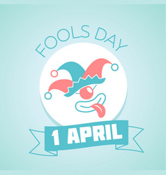 1 april fools day linear vector image vector image