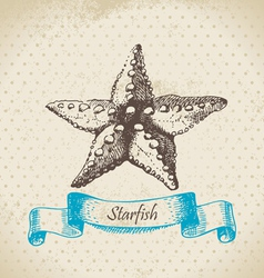 Starfish hand drawn vector