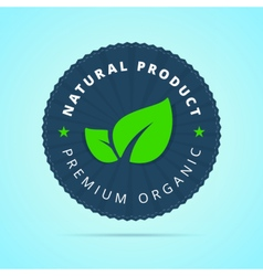 Natural product premium organic badge vector