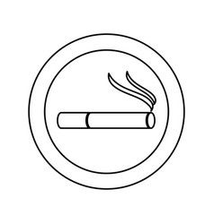 monochrome silhouette of smoking area icon vector image