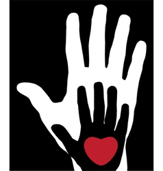 Hands with heart vector