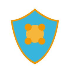 Shield protection health care symbol design vector