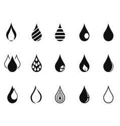 Black simple drop icons vector