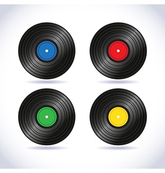 Vinyl records vector