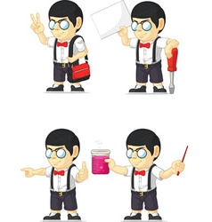 Nerd boy customizable mascot 10 vector