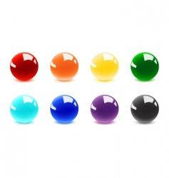 shiny balls vector image
