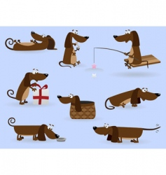 Funny dogs vector