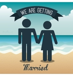 Marriage vacations vector