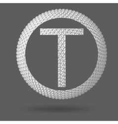 The letter T Polygonal letter Abstract Creative vector image