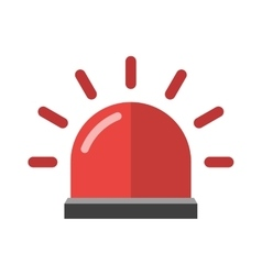 Police or ambulance red flasher siren alarm icon vector