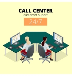 Concept of call center technical support vector