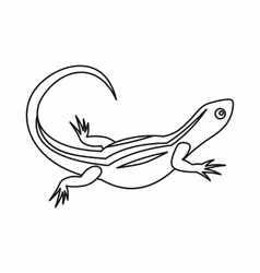Lizard icon outline style vector