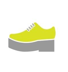 Flat icon of orthopedic shoe vector