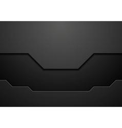 Abstract black technology concept design vector