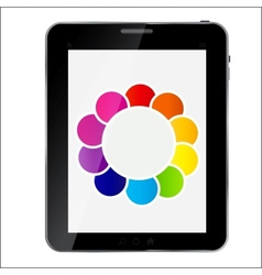 Abstract design Tablet vector image vector image