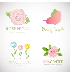 Abstract floral designs for logo vector image