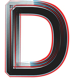 abstract font letter d vector image vector image