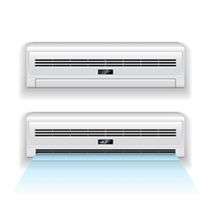 air conditioner isolated vector image vector image