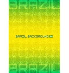 Background using brazil flag colors 2016 a4 size vector