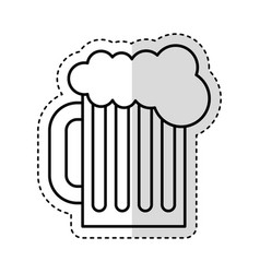 beer in jar isolated icon vector image