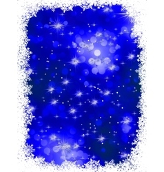 Blue grunge christmas background EPS 8 vector image vector image