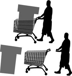 Buyer silhouette vector