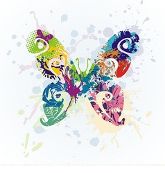 colorful beautiful butterfly vector image vector image