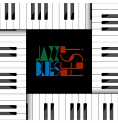 Creative of piano keyboard vector
