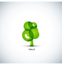 Eco green tree concept vector image vector image