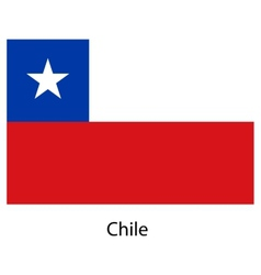 Flag of the country chile vector