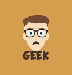 Geek guy vector