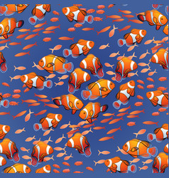 graphic ocean fish pattern vector image