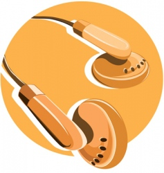 headphone vector image vector image