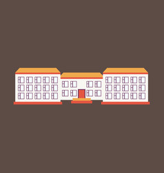 Isolated city buildings icon public building vector