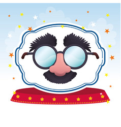 mask glasses fun image vector image