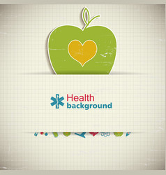 medical care background vector image