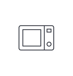 microwave stove household equipment electric vector image