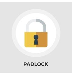 Padlock flat icon vector image vector image