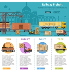 Railway Freight infographics vector image vector image