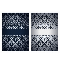 Silver and dark blue greetings vector