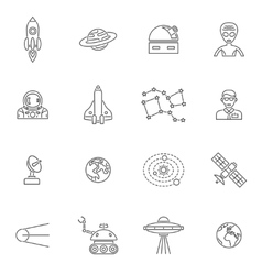 Space Icon Outline vector image vector image