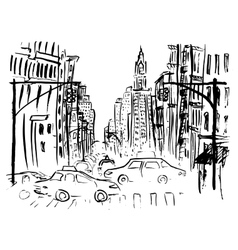 Street of new york vector
